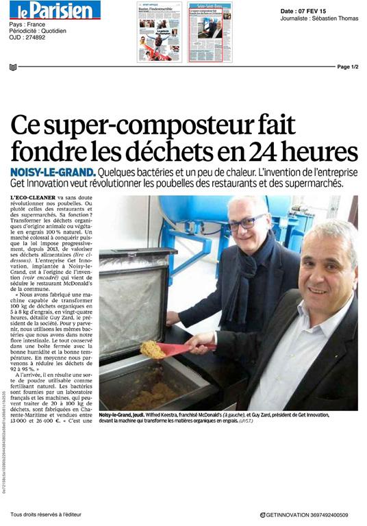 Le Parisien Fev 2015 - CP CONSEIL